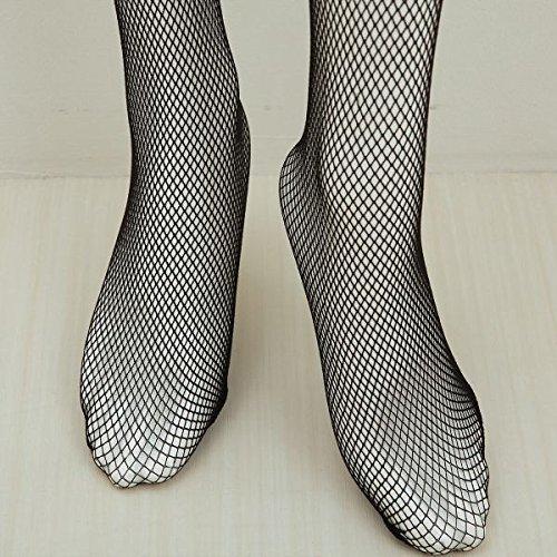 『(コミューズ)COMUSE ネット柄ラッセルレース付ストッキング 日本製(WH-ホワイト、22-24cm)』の6枚目の画像