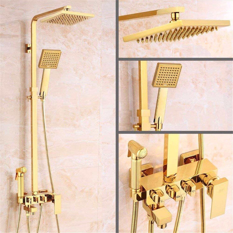The rain Shower taps Retro, Articles of Copper, golden Square Bath Rooms, hot Cold and rain of The Head, Bath Rooms Set,