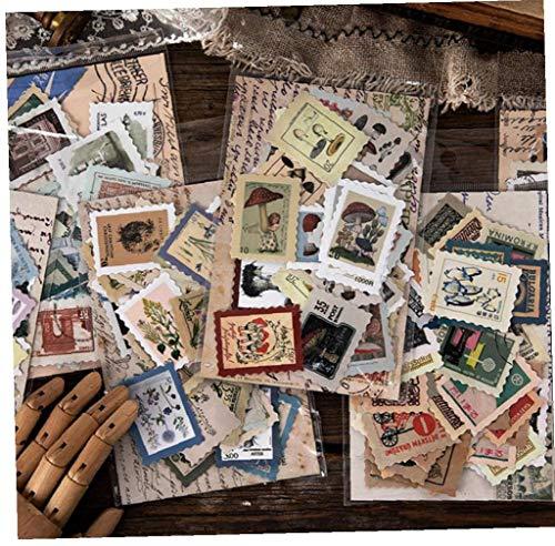 Vintage Stamp Funghi Proiettile Diario Cancelleria Decorativo Adesivi Scrapbooking Diario Album Stick Label