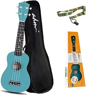 ADM Soprano Ukulele for Kids Beginners 21 Inch with Uke Starter Pack Kit, Gig Bag and Strap, Green