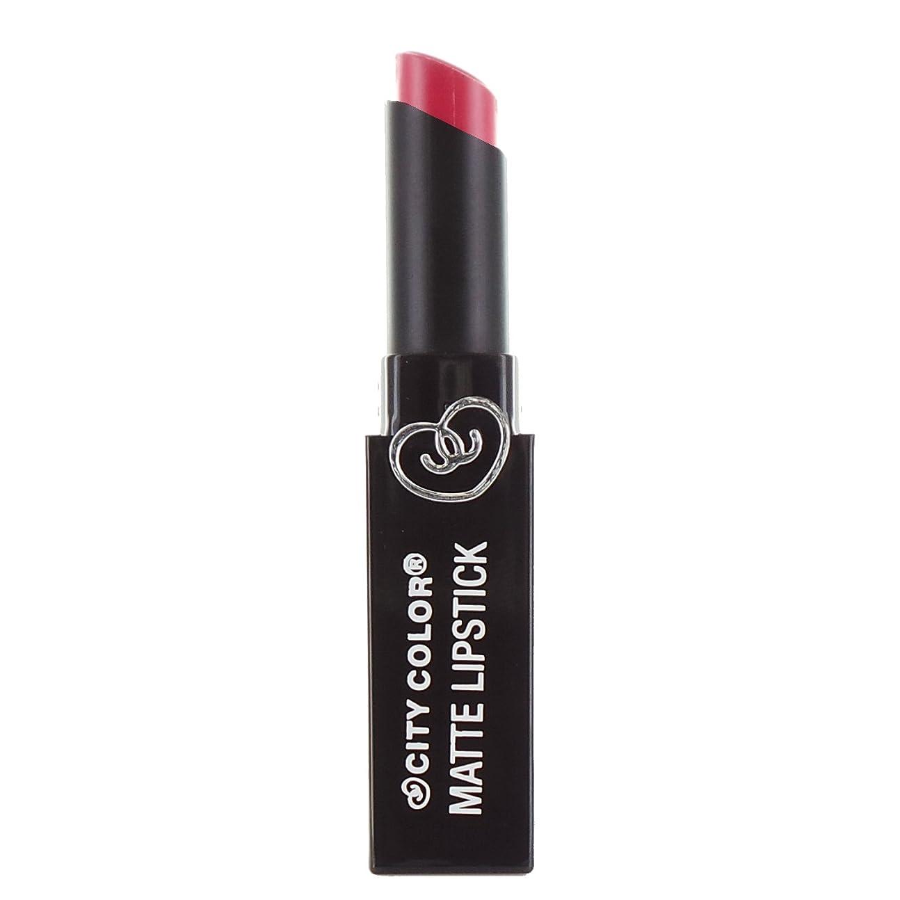 司法胚素人CITY COLOR Matte Lipstick L0050B - Rosy Mauve (並行輸入品)
