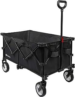 Moon Lence キャリーワゴン 折りたたみキャリーカート 大容量156L アウトドア キャンプ レジャー BBQ 運動会 コンパクト 耐荷重100kg