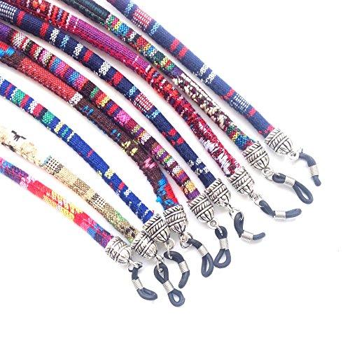 HC enterprise Cordón de Gafas Estampado étnico Multicolor, 3 Unidades