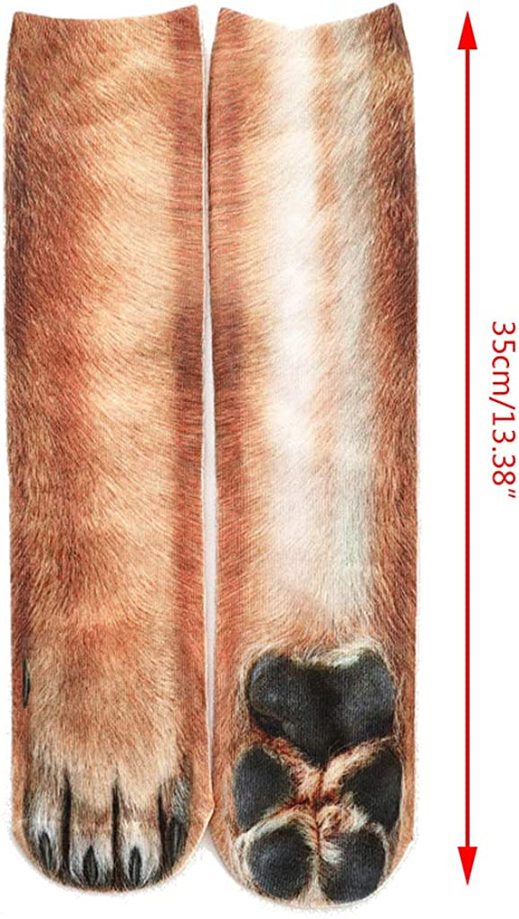 tianxiangjjeu Unisex Socks 3D Simulation Animal Paw Hoof Adult Children Soft Comfortable Elastic Breathable Anti-odor
