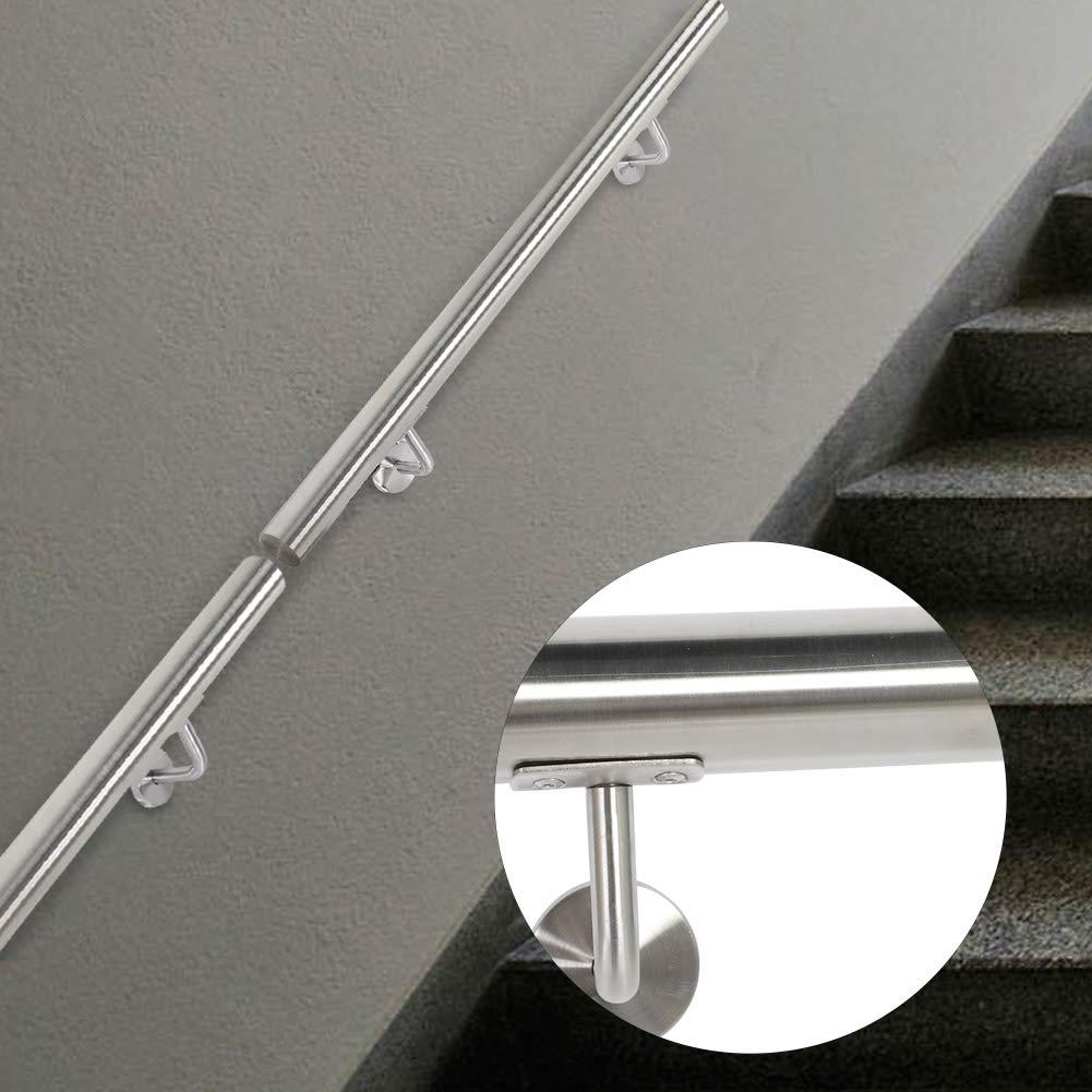 Pasamanos de acero inoxidable para escaleras, barandilla de pared, pasamanos de pared, con tacos de metal, para interior y exterior, escaleras, balcón, barandilla: Amazon.es: Bricolaje y herramientas