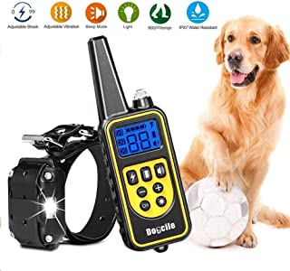 YIDA TECH Dog Shock Collar with Remote 800 Yards Dog Training Collar with Beep Vibra Shock Electric IPX7 100% Waterproof and Rechargeable Shock Collar for Dogs
