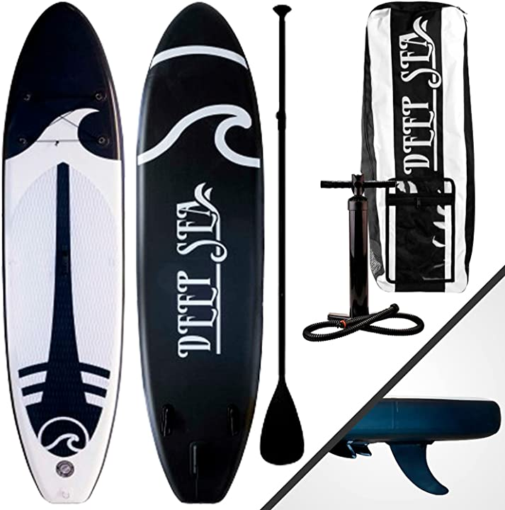 Tavola sup gonfiabile set 275-330 cm – stand up paddle con pompa pagaia borsa trasporto kit riparazione B08HVLBWNZ