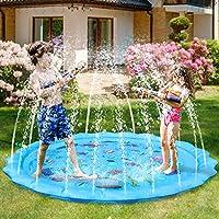 DIVERTIMENTO PER I BAMBINI - 68 '' / 178 cm di diametro famiglia riempito di acqua tappetino spray per 2-3 bambini, perfetto per il relax, festa o festa in piscina o in spiaggia. BESR GIFT FOR KIDS - Modelli di vita marina, coltivando gli hobby dei b...