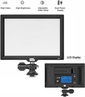 Pixel P20 LED Video Light Ultra Brillante Regulable Cámara Luz Panel para Canon Nikon Pentax Panasonic Sony Samsung Olympus y Otras cámaras réflex Digitales/videocámaras
