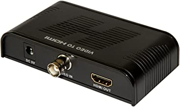 E-sds BNC to HDMI Video Converter Adapter for Security Cameras DVRs Supports 720P/1080P, HDCP, Deep Color CV0061