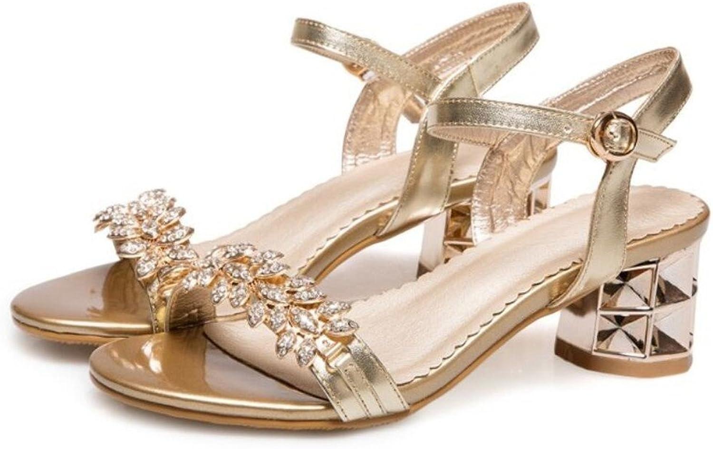 WEIQI-Damen Sandalen Strass Einfach Komfortabel, Einkaufen Tglich Party, 5cm, 34-40