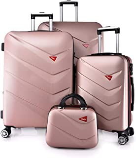 TRACK Luggage set HARD 4 pieces size 30/25/20/12 inch 9013/4P (Rose Gold)