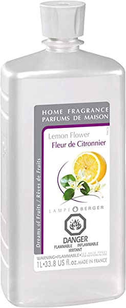 法国制造柠檬花 Lampe Berger 香水补充香水家用香油扩散器净化和芳香您的家 33 8 液体盎司 1 升