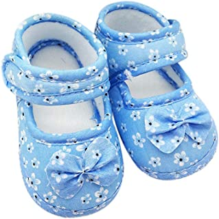 UROSA Kids Baby Bowknot Printing Newborn Cloth Shoes,Most Comfortable Toddler Shoes
