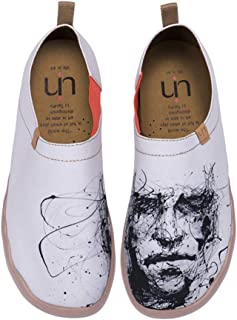 UIN Silent Man Fashion Sneaker Painted Canvas Slip on Loafers Outdoor Art Travel Shoes