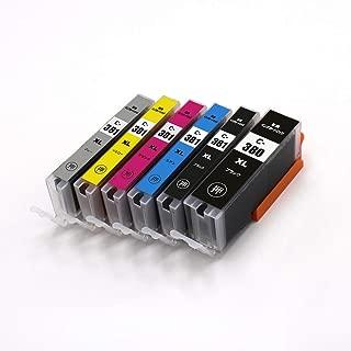 BCI-381XL+380XL/6MP 6本セット(BCI-380XLBK×1 BCI-381XLBK×1 BCI-381XLC×1 BCI-381XLM×1 BCI-381XLY×1 BCI-381XLGY×1) 大容量タイプ キヤノン用互換インクカートリッジ ICチップ付 残量表示機能付 (BCI-380XL BCI-381XL BCI-381BK BCI-381C BCI-381M BCI-381Y BCI-381GY BCI380XL BCI381XL BCI380 BCI381)