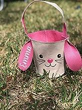 Greenbrier Fabric Bunny Easter Basket (Pink)