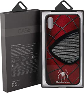 Spider man Glass Anti-Fall Mobile Phone Shell Illuminated for IphoneXRX/XS Max7/8plus