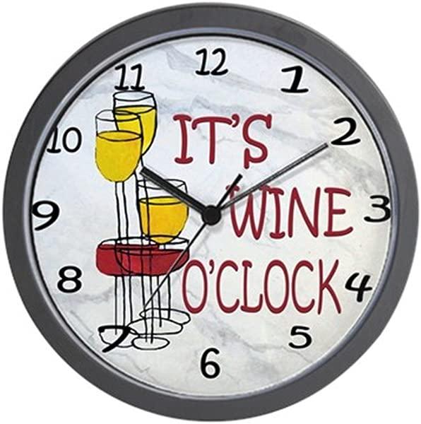CafePress Its Wine Oclock Unique Decorative 10 Wall Clock