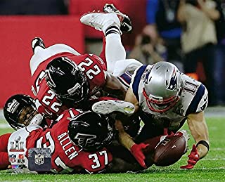 New England Patriots Julian Edelman Makes The Catch Of A Lifetime During Super Bowl LI Trophy. 8x10 Photo Picture. (Catch) mf