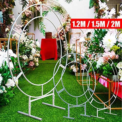 Gyheung 1.2m/1.5m/2m Circular Wedding Arch Metal Round Stand,Metal Wedding Circle Arch Round Framework Party Backdrop Romantic for Wedding Marriage Decor US 1.5M