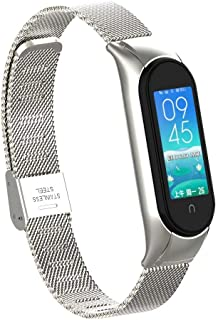 T-BLUER Stainless Steel Metal Band Compatible with Xiaomi Mi Band 5/Mi Band 6,Xiaomi Miband 5/6用のステンレススチールメタルリストストラップリストバン...