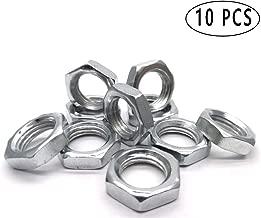 10PCS M12-1.25 MM Nut Inner Diameter Metric Grade Class Stainless steel hex nut,Thin hex nut