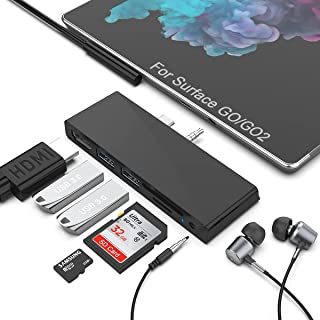 Surface GO Hub, docking station per Surface GO 2, docking station per Surface Go 6 in 1, adattatore hub USB C con slot per...