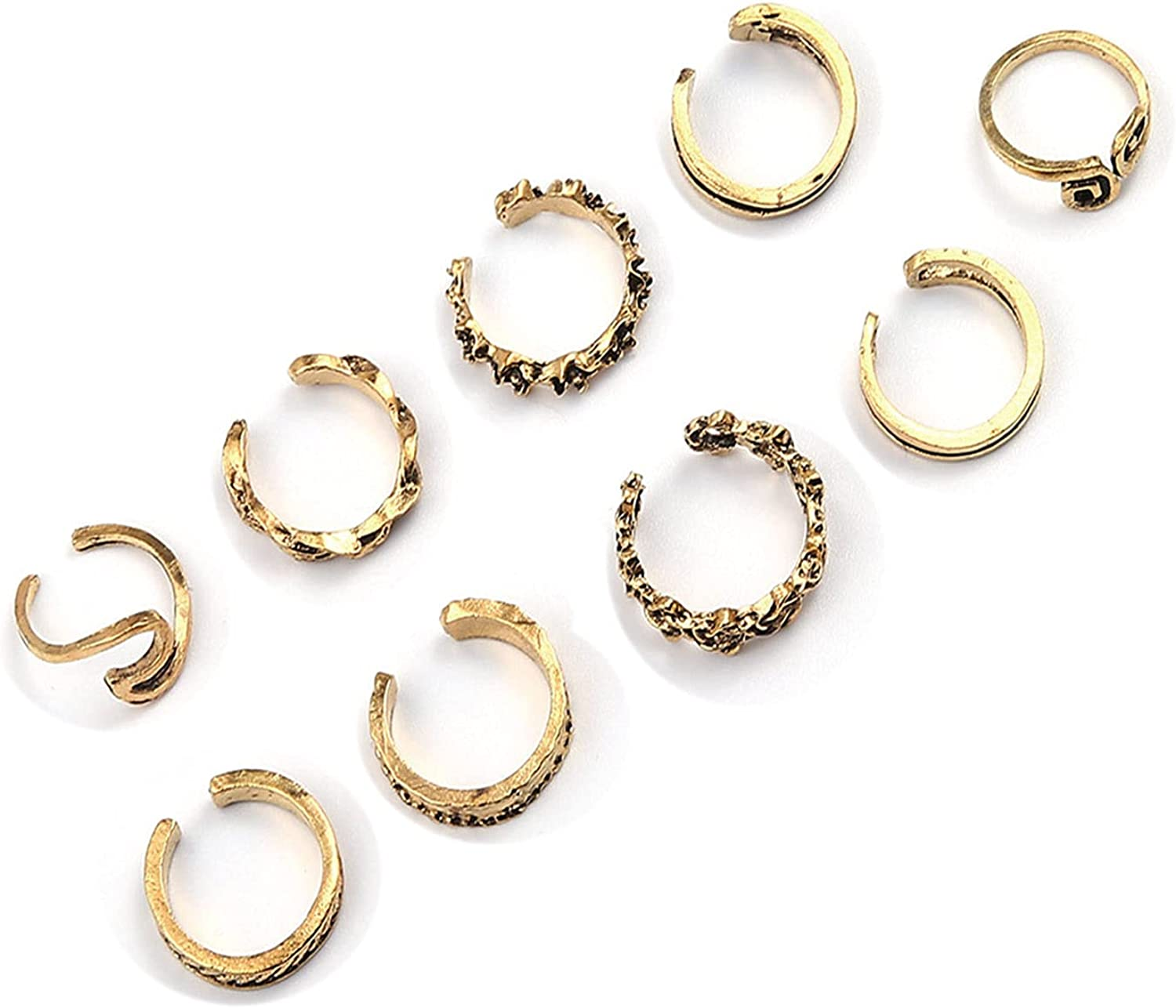 Sttiafay Max 46% Ranking TOP13 OFF Boho Stackable Knuckle Toe Set Knot Ring Rin Simple