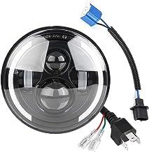 Duokon Luz LED de ojo de ángel para automóvil, 150W 7 pulgadas universal Independientemente del modelo y año Redondas de haz alto/bajo Luces diurnas DRL Lámpara de luz de señal de giro