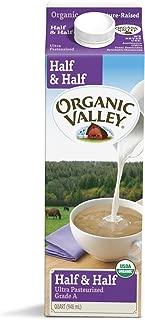 Organic Valley, Organic Half & Half, Ultra Pasteurized, Quart, 32 oz