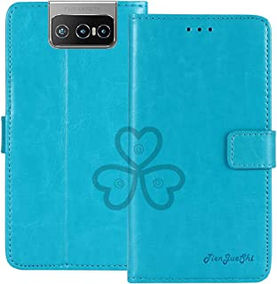 TienJueShi Blue Book Stand Retro Flip Leather Protector Phone TPU Silicone Case For Asus Zenfone 7 Pro ZS671KS 6.67 inch G...