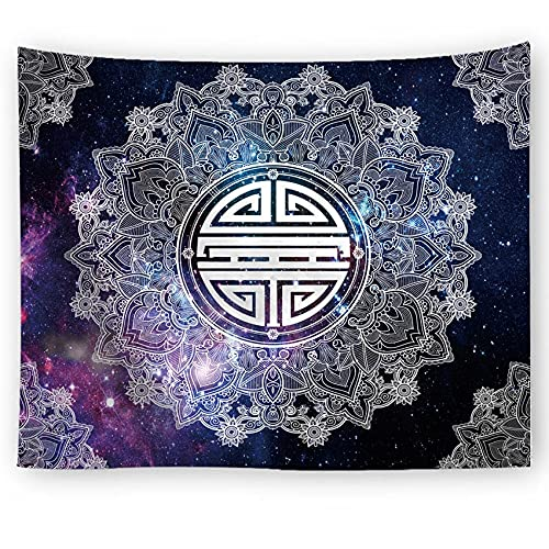 PPOU Mandala Starry Sky Tapiz Geométrico Manta para Colgar en la Pared Estera de Picnic Mantel Cama Funda de sofá Decoración del hogar Tapiz Pared A2 180x200cm