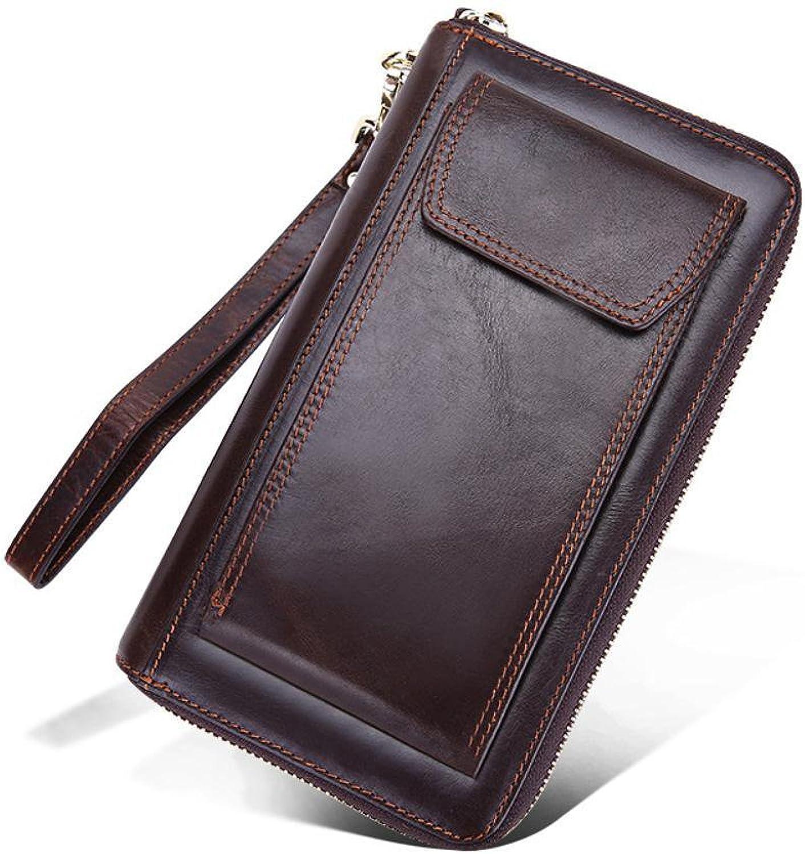 Axiba Mann Leder Brieftasche multifunktionales Handy freizeittasche B07CPSG9VB