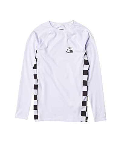 Quiksilver Kids Check This Long Sleeve Rashguard (Big Kids) (White) Boy