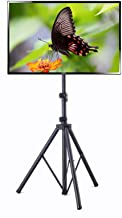 """Elitech Steel Portable Plasma or LCD TV Stand with Tripod Legs for up to 55"""" Flat Panel TV, Height Adjustable. Max Stand H..."""
