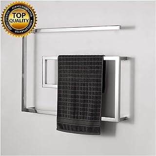 FAUCDUXYET Toallero Eléctrico Bajo Consumo de Acero Inoxidable radiador de Toalla Inteligente de 60W, Estante para baño del Hotel, secador de Toallas 800x600х115mm