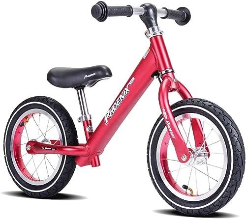entrega de rayos Bicicleta Bicicleta Bicicleta sin pedales Bici Bicicleta de Equilibrio para Niño niña de 3 años - Bicicleta de Entrenamiento con neumático neumático para Niños, Bicicleta para Niños de 12 Pulgadas (azul gris rojo)  oferta de tienda