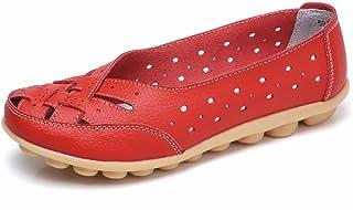 c545970eacb9ab Moonwalker Mocassins Femme Confort D'été en Cuir Grandes Tailles Nouveau  Modèle