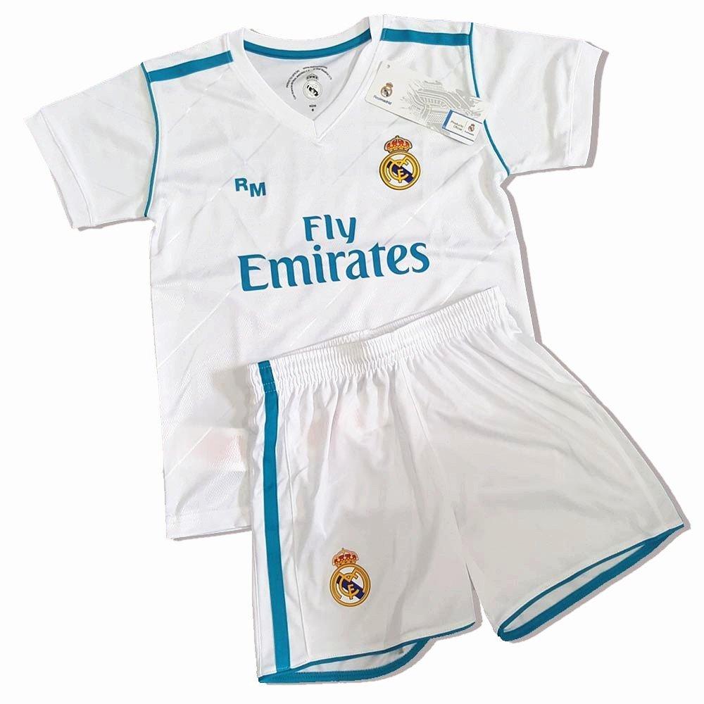 Kit Infantil Primera Equipación Replica Original Dorsal Sergio Ramos (Talla 12 años): Amazon.es: Deportes y aire libre