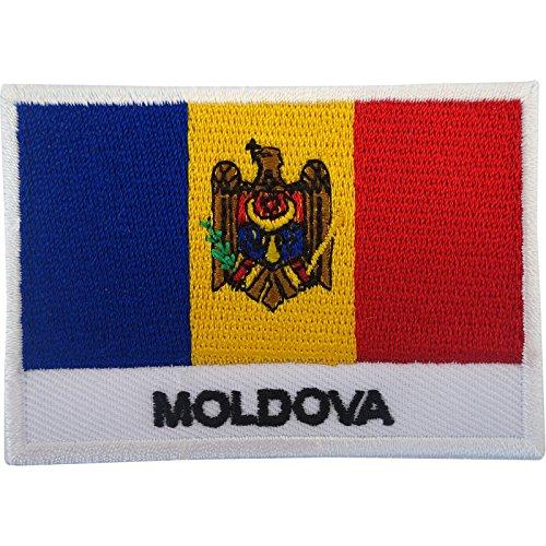 Moldawien-Flagge, Aufnäher zum Aufnähen oder Aufbügeln, bestickte Applikation, Stickmotiv
