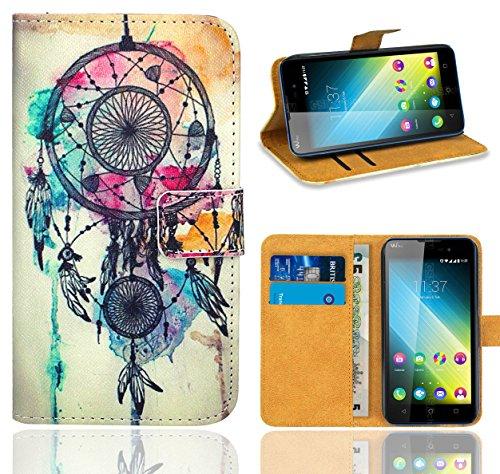 Wiko Lenny 2 Handy Tasche, FoneExpert® Wallet Case Flip Cover Hüllen Etui Ledertasche Lederhülle Premium Schutzhülle für Wiko Lenny 2 (Pattern 9)