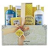 Gloss - caja de baño, caja de regalo para mujeres -  Basura del baño de primera calidad floral del jardín - Almond miel - 6pcs