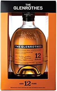 The Glenrothes 12 Jahre Speyside Single Malt Scotch Whisky, mit Geschenkverpackung, langanhaltendes Finish, 40% Vol, 1 x 0,7l