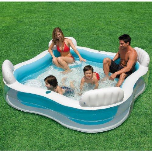 INTEX Luxus Familienpool - Pool Lounge - 229 x 229 x 66 cm - Swimmingpool für Garten