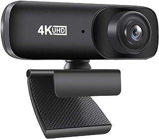 Diealles Shine Webcam 4K, Webcam Streaming con Microfono para Mac Windows Portátil Videollamadas Conferencias Juegos Plug ...