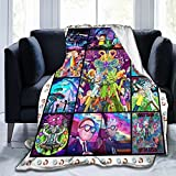 Ri-ck and Morty Flannel Fleece Blanket Super Soft Lightweight Plush Throw Blanket for Bed Chair Sofa Couch Living Room 50'x40'