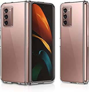 Galaxy Z Fold2 Case, Ultra-Thin Foldable Transparent Hard Plastic Back Cover Shockproof Protective Case for Galaxy Z Fold ...