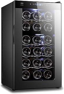 AVERA Cava de vinos para 18 botellas con Doble Zona. Enfriad
