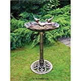 Garden Studia Bronze Effect Double Bird Bath